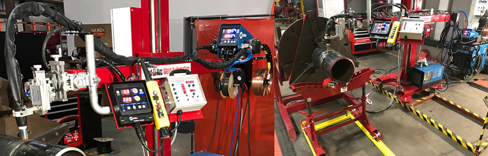 D/F Water Cooled Robotic Docking Spool Weld Body Combination on RedDArc Manipulator