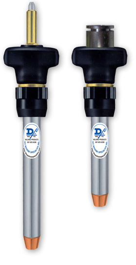 "D/F Water-Cooled Straight 5"" & Long Reach MIG Torches"