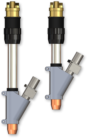 "D/F Water-Cooled-to-the-Tip 5"" & 8"" Sub-Arc MIG Torches"